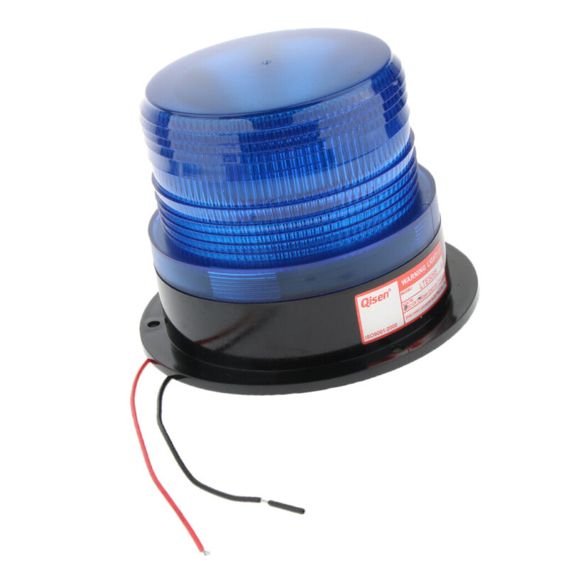 Flexible LED Warning Emergency Flash Strobe Rotating Beacon Light Motor Amber