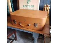 vintage antler suit carrier, vintage suit carrier, retro luggage, vintage travel, vintage home decor