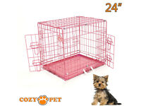 30 inch pink dog crate. new. cage for puppy. pen etc