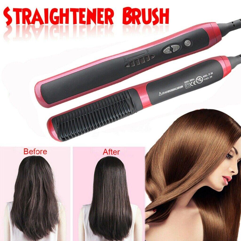 Haarbürste Elektrische Haarglätter-Bürst Glättbürste Glätteisen Kamm Haar Styler