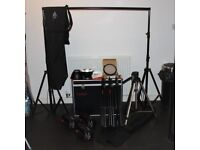 Portable lighting system for sale - Multiblitz Profilux 200 kit + additional equipment