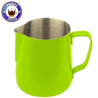JoeFrex Milk Pitcher Green Teflon Coating Stainless Steel 350ml 590ml Latte - Teflon Coating Stainless Steel