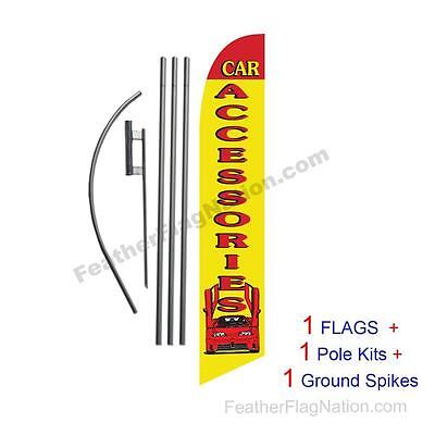 Mitsubishi 15/' Tall Swooper Flag /& Pole Kit Feather Super Bow Banner