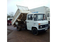 Left hand drive Mercedes Benz 508D 6 tyres 5.5 ton tipper. Low miles.