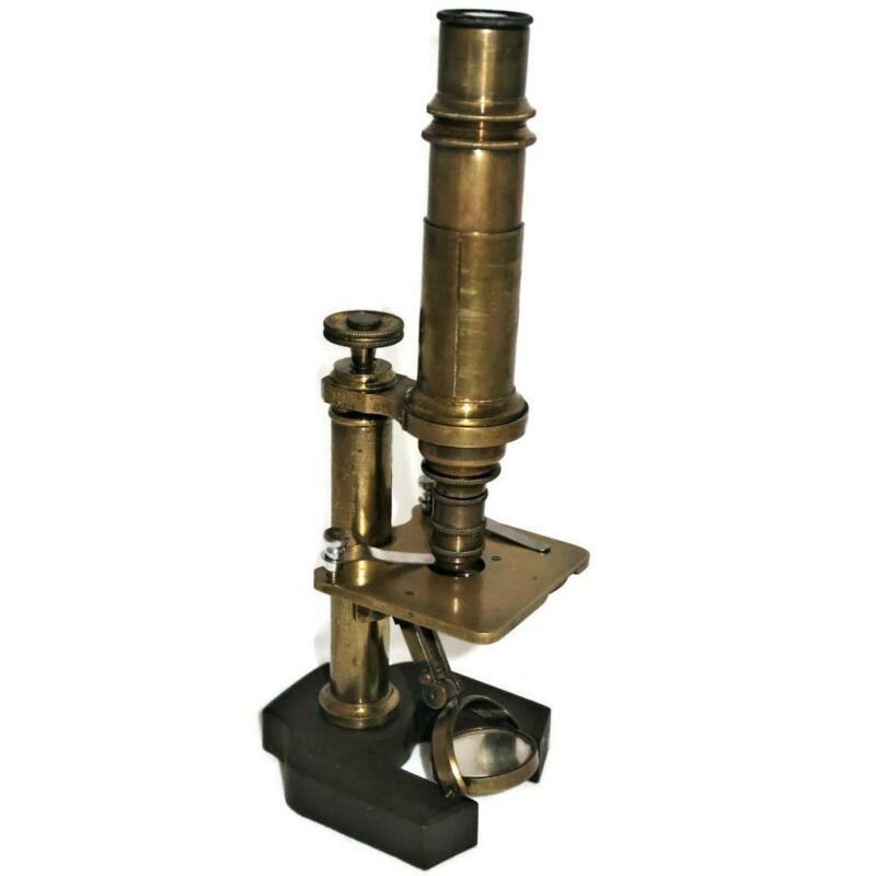 Vintage Constant Verick, Paris, 4121 Brass Monocular Microscope