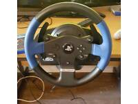 Thrustmaster T150 Steering wheel and peddles and GRAN TURISMO SPORT (PS4)