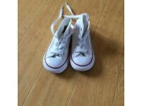White Converse infant trainers