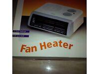 Fan heater with 2 settings