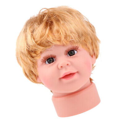 Realistic Child Mannequin Dummy Head For Glasses Cap Hat Scarf Display