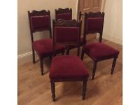 Set of 4 mahogany/rosewood dining chairs
