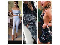 Crushed velvet tracksuit sequin dress bodysuit n jumpsuit two piece jumpsuit