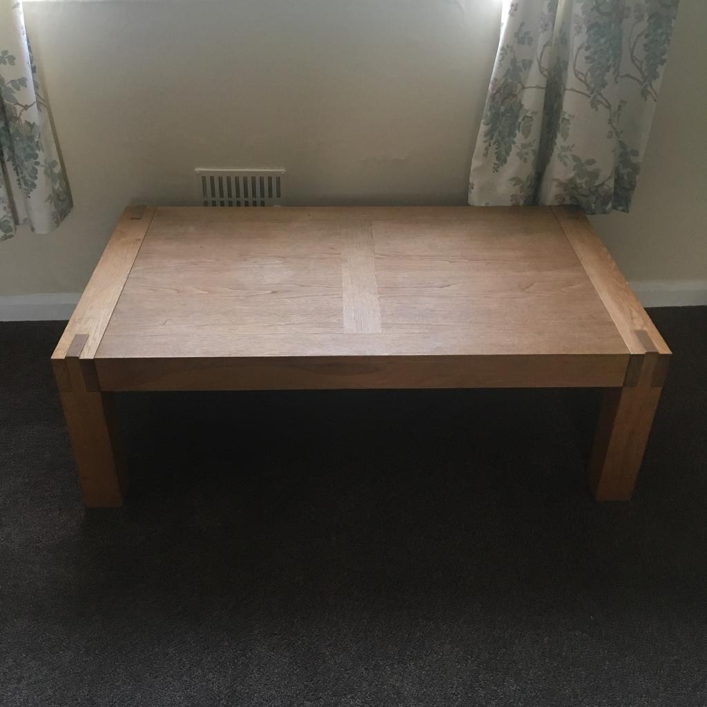 Solid oak BHS coffee table