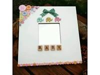 Personalised baby mirror - new baby gift, Christening, handmade, baby shower