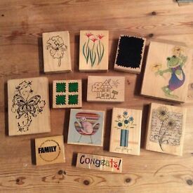 Wooden Rubber Printing Stamps ~ Craft/Scrapbooking/Handmade Cards ~ Choice of 12 Designs