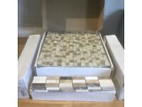 NEW Bathroom Elgin Mosaic Border Tile Strips BCT03731 + Mosaic Natural Tile Sheets BCT38504
