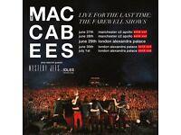 Maccabees farewell tour ticket - Alexandra Palace - 30 June