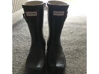 Hunter wellies , Black , size 5