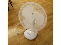 White Oscillating Desk Fan (bought new July 2018)