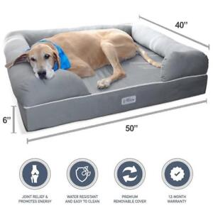 NEW PetFusion Ultimate Jumbo Pet Bed and Lounge in Grey