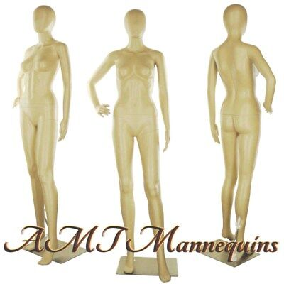 Female Display Mannequin Metal Stand Egg Head Full Body Manikins -fc-11f
