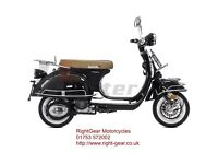 *Brand New* 66 plate Lexmoto Milano 125 Retro Scooter. Warranty. Free delivery. Part-ex 24-10
