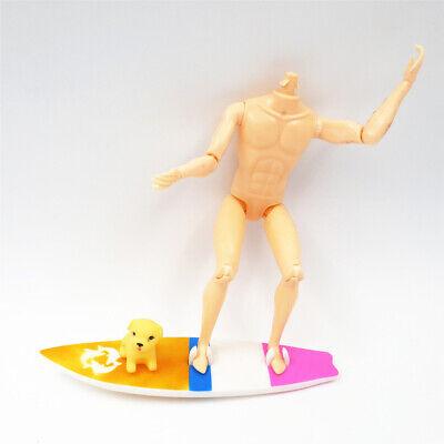 maravillosa casa de muñecas en miniatura tabla de surf con perro para