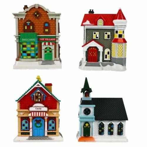 Cobblestone Corners Christmas Winter Village Lot of 4 Buildings New 2021