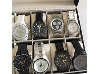 Watches lot Armani/Pulsar/Sector/CK/Swatch