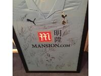 Signed Tottenham Hotspur shirt already framed.