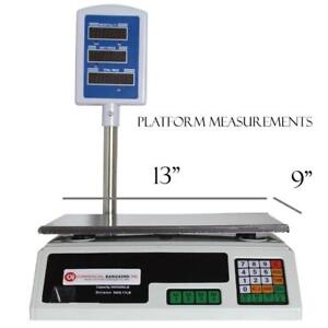 Scale Food Price Digital Computing Produce Meat Deli Weight Counting 60LB - FREE SHIPPING