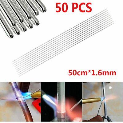 50pcs Silver Low Temperature Aluminum Magnesium Welding Rods 50cm1.6mm Usa