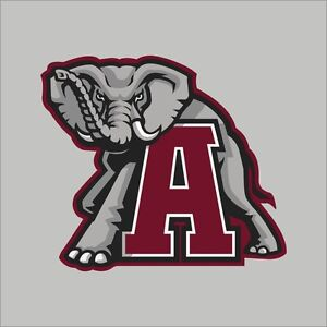 Alabama crimson tide ncaa college vinyl sticker decal car for Alabama football mural