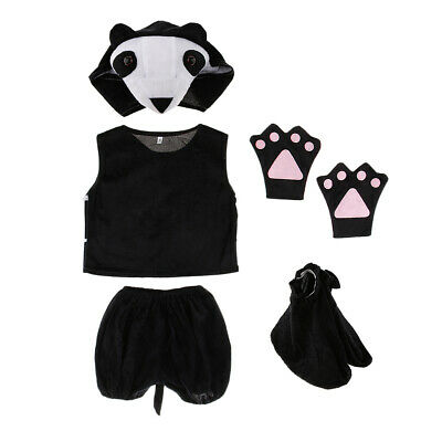kinder tier kostüm set panda hut top shorts - Panda Hut Kostüm