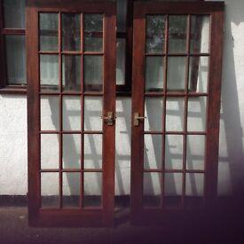 2 Wood doors good condition