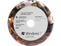 Genuine Windows 7 Ultimate 64 Bit with License key and Hologram dvd