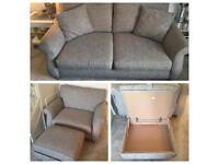 Next Ashford Light Dove Boucle Blend Sofa/Snuggle/Footstool