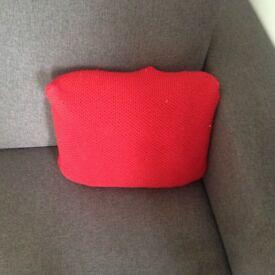 John Lewis 2 Red Cushions