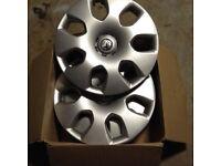Genuine Vauxhall Astra wheel trims