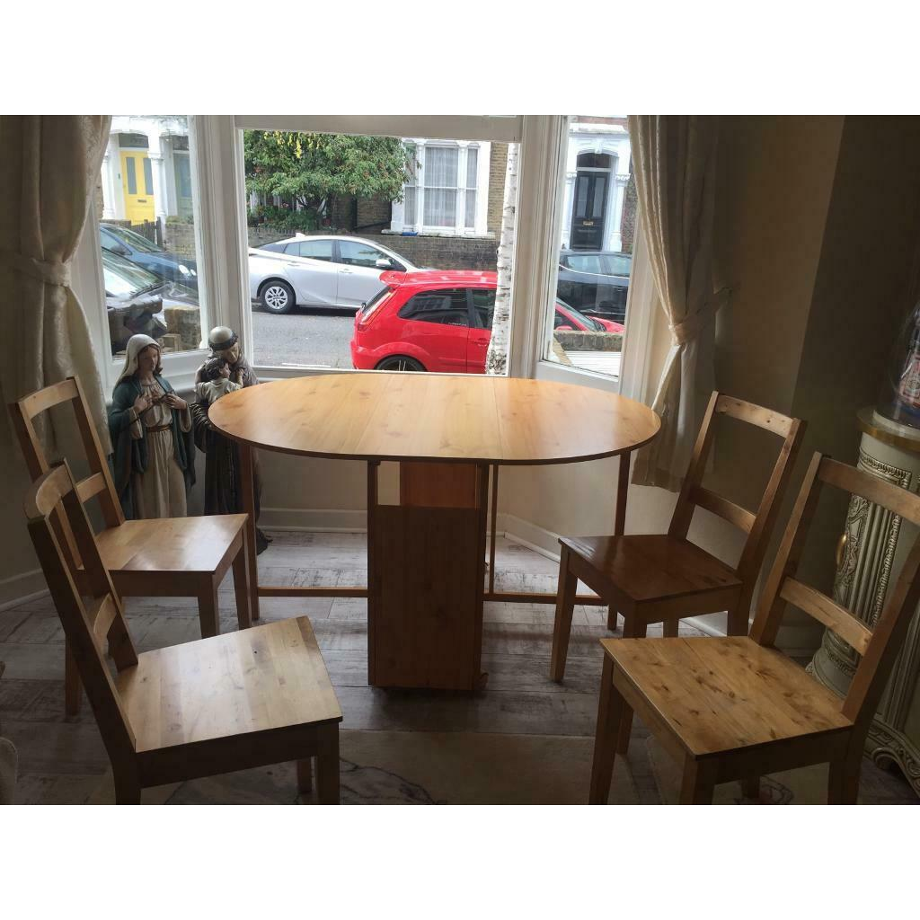 Ikea Wooden Table And Chairs In Hackney London Gumtree