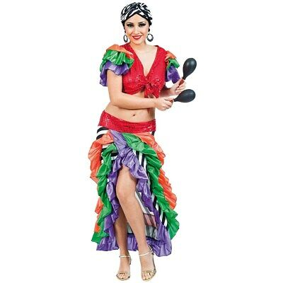 Sambatänzerin Brasilianerin Kostüm Damen Rio Tänzerinkostüm Brasilien Gr 42