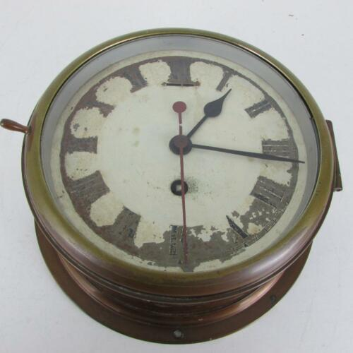 ENGLISH MARINE or SHIPS CLOCK by COVENTRY ASTRAL sweep seconds hand WORKING