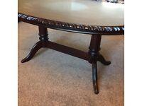 Solid dark wood coffee table