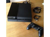 PS4 games console with 1 controller. Used and in good condition.