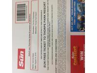 Thorpe Park Tickets **Sunday 14th August**