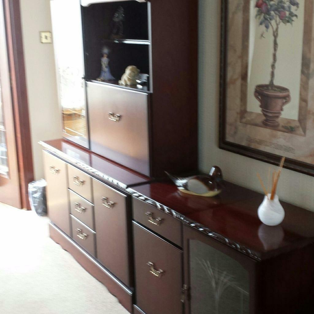 Mahogany display unit hi fi unit and corner unit mahogany for John e coyle dining room furniture