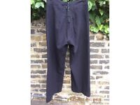 1940s navy wooden sailor trousers