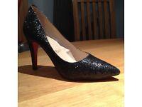 Black Louboutin Paris Stiletto Shoes