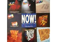 Job Lot vinyl NOW THAT'S WHAT I CALL MUSIC original LPs 13-29 SET CHRISTMAS