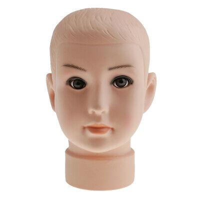 12 Children Mannequin Child Manikin Head Hair Wig Hats Stand Display Holder