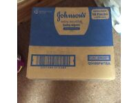 Huge 18 pack box brand new and sealed johnsons baby wipes